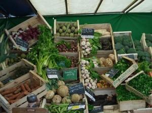 無造作に並ぶ野菜・・・・無造作なはずなのに、どこかセンスを感じるのは私だけ??